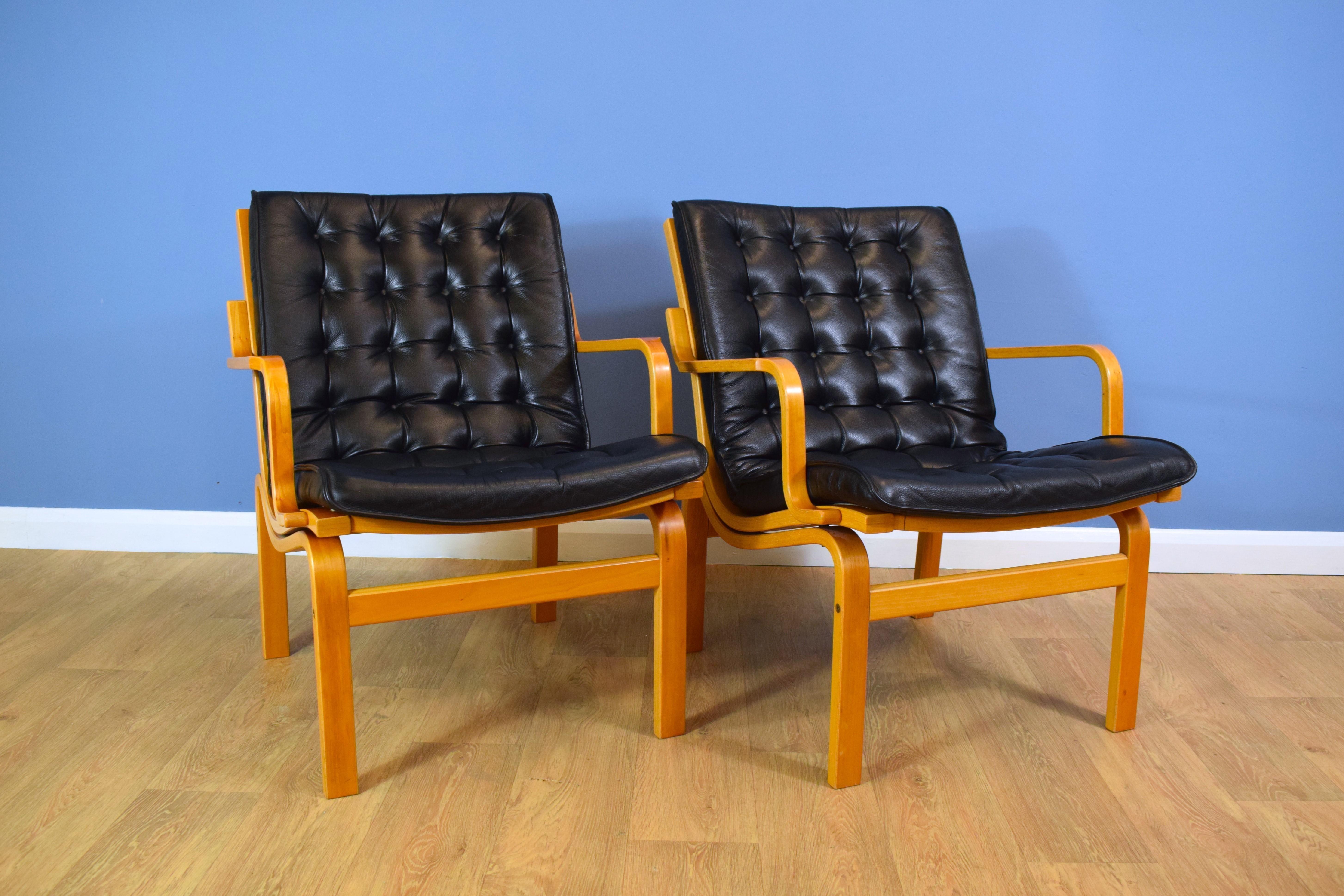 Super Mid Century Retro Vintage Danish Black Leather Lounge Armchair 1980S 1 Sold Pabps2019 Chair Design Images Pabps2019Com