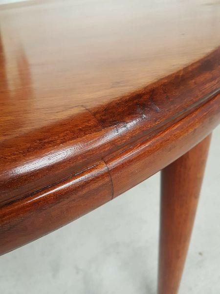 ae3cb29267821 Vtg Mid Century White   Newton Teak Extending Dining Table Retro Danish  Design. 2   11