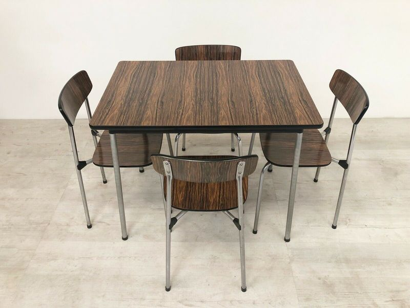 Vintage Tavo Of Belgium Mid Century 1950s Dining Table Chairs In Rosewood Form Tavo Vinterior