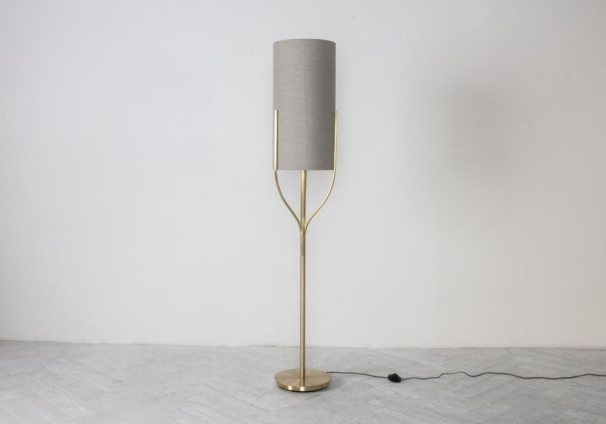 Mona Floor Lamp In Brushed Gold Photo 1