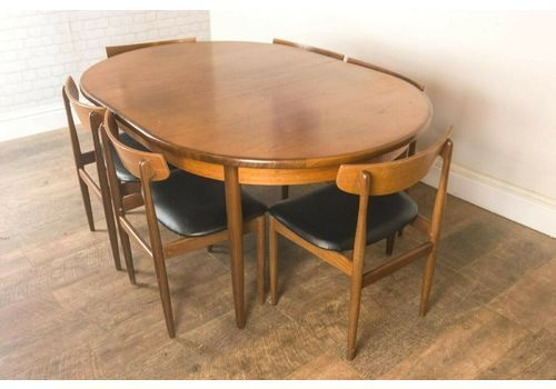 60d280f4fbae8 Vintage Retro G Plan Fresco Oval Table And 6 Danish Range Chairs