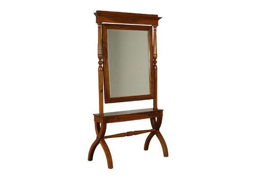 3e5b78e9e398 Restoration Walnut Cheval Mirror Italy Second Half Of 1800s