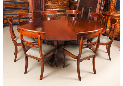 Vintage 6ft 6 Round Table 8 Chairs William Tillman 20