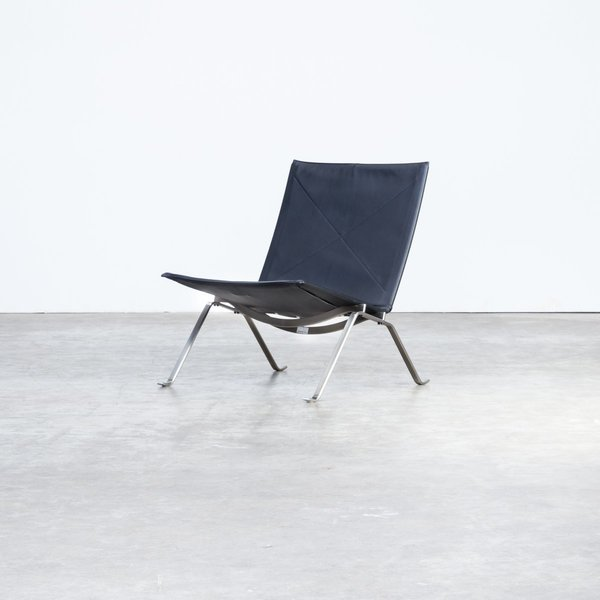 Peachy Pk22 Black Leather Lounge Chairs By Poul Kjaerholm For Fritz Hansen 1980S Set Of 2 Pabps2019 Chair Design Images Pabps2019Com