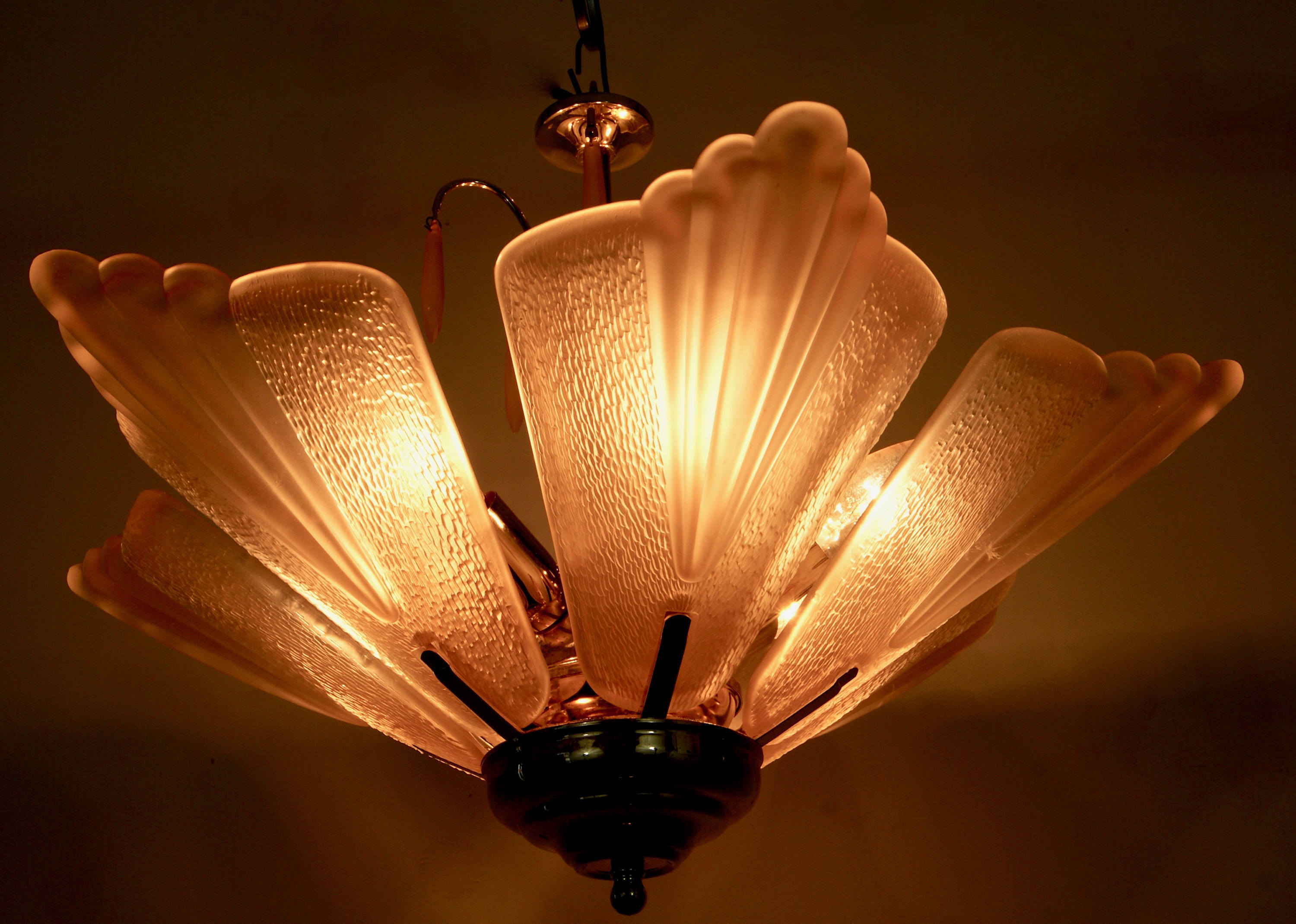 Vintage Murano Glass Ceiling Lamp by