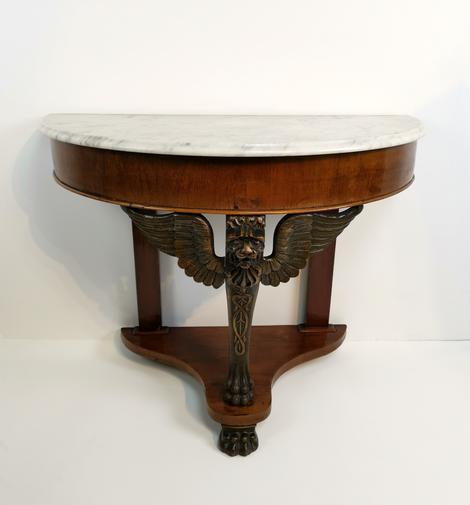 Strange Empire Demi Lune Sphinx Console Table Andrewgaddart Wooden Chair Designs For Living Room Andrewgaddartcom
