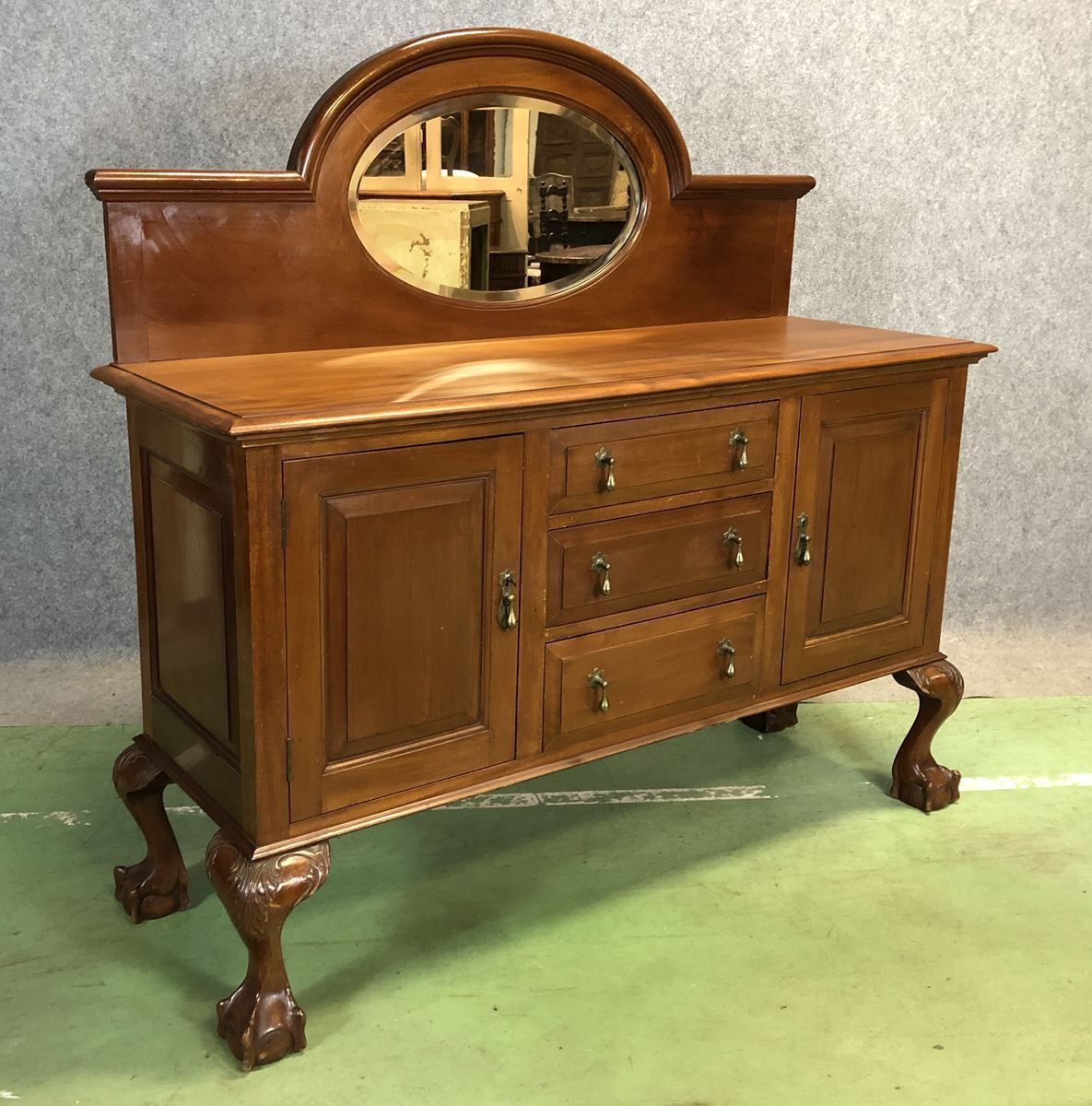 Vintage Chippendale Mahogany Sideboard 1920s Vinterior