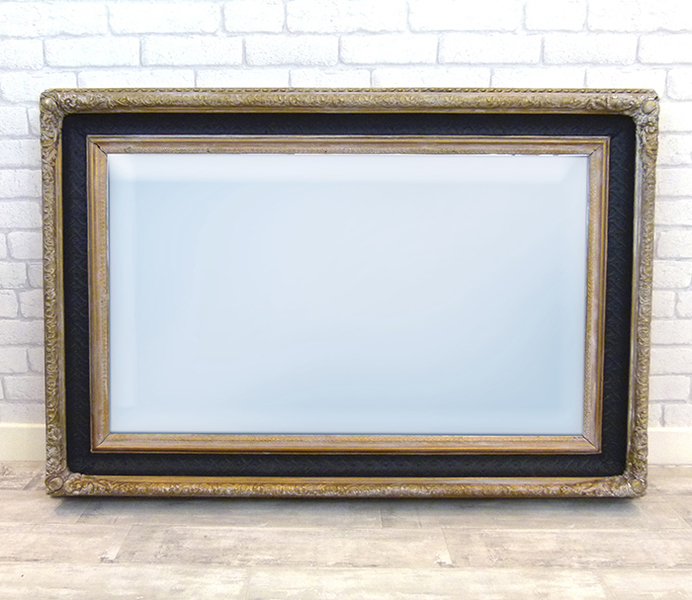 Vintage Black And Gold Mirror