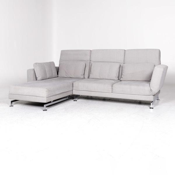 br hl sippold moule designer fabric corner sofa gray couch 8370 rolandmeyer br hl br hl
