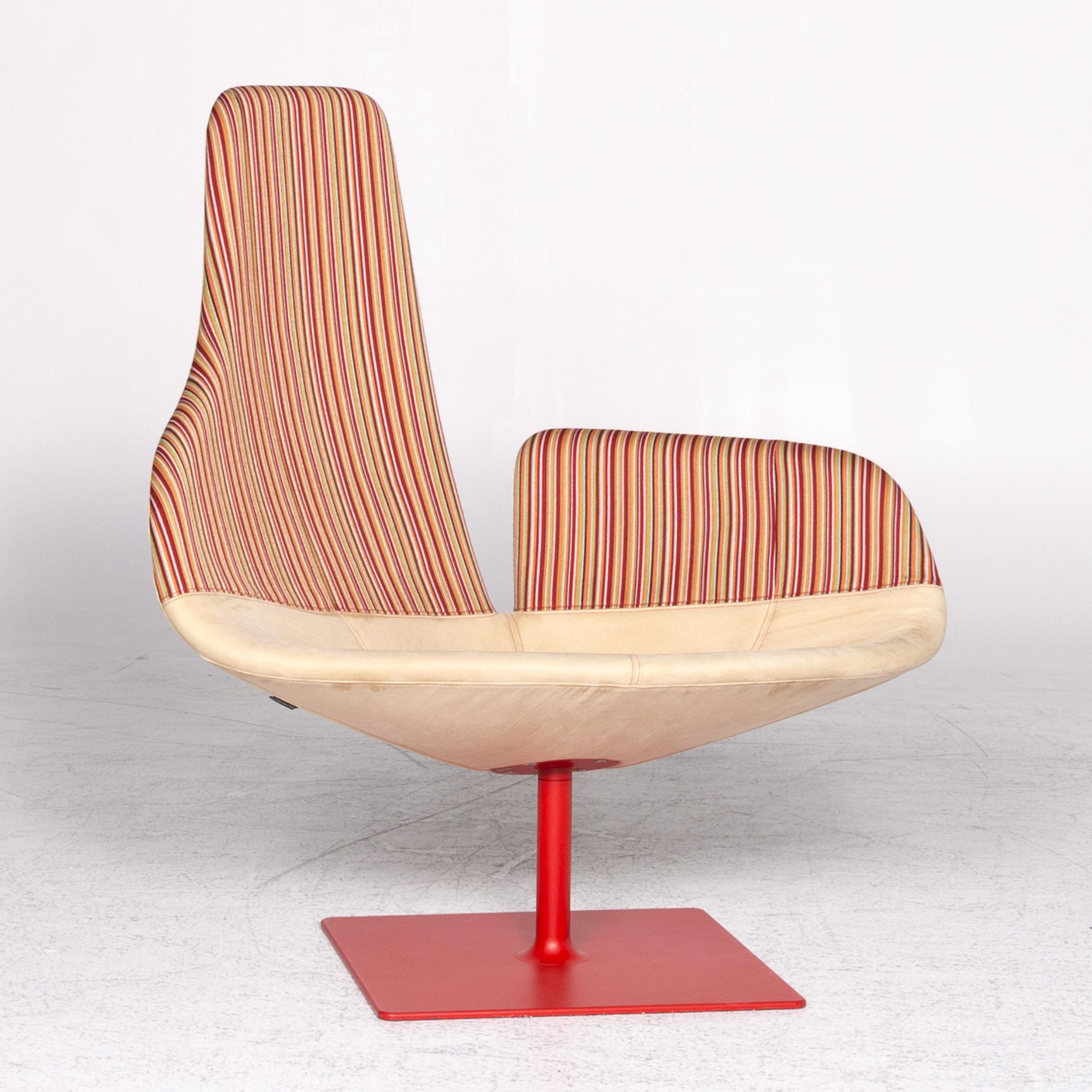 Moroso Fjord Designer Fabric Alcantara Armchair Beige Color Patricia  Urquiola #8872