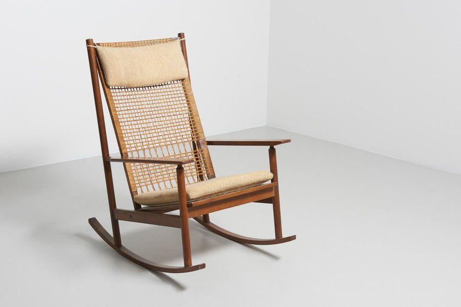 Rocking Chair By Hans Olsen For Juul Kristensen, 1950s