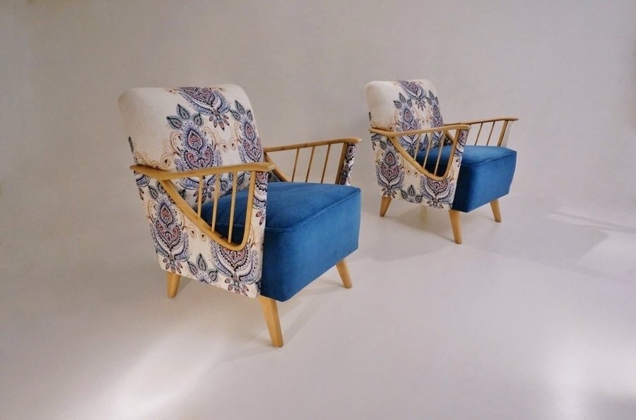 Ercol Windsor Armchairs Pair