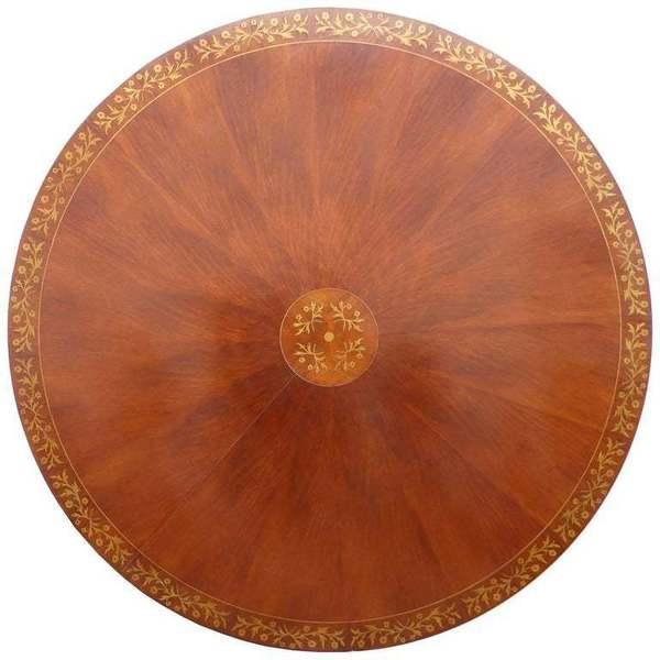 20th Century Regency Style Mahogany Round Dining Table