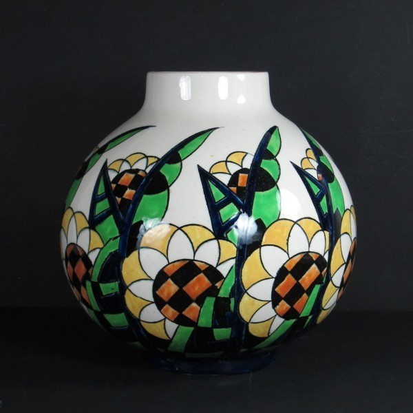 Charles Catteau Art Deco Vase Keramis