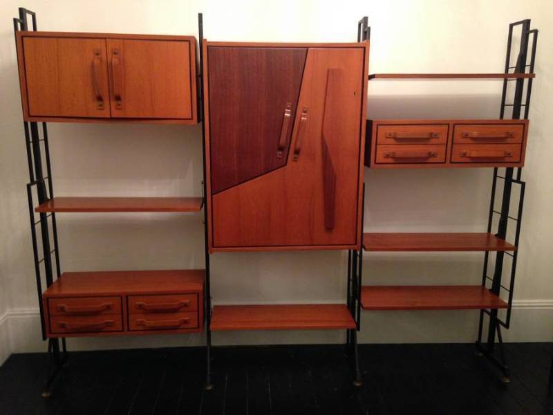 Teak And Rosewood Bookcase