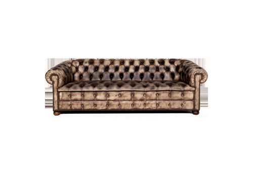 Chesterfield Leather Sofa Cream Pattern Genu