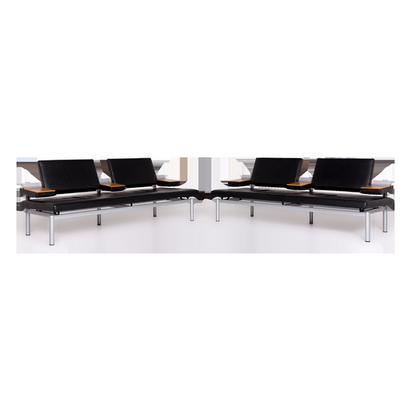 Wilkhahn Cana 890 Designer Leather Sofa Set Black Two Seater Function Couch #8939 photo 1