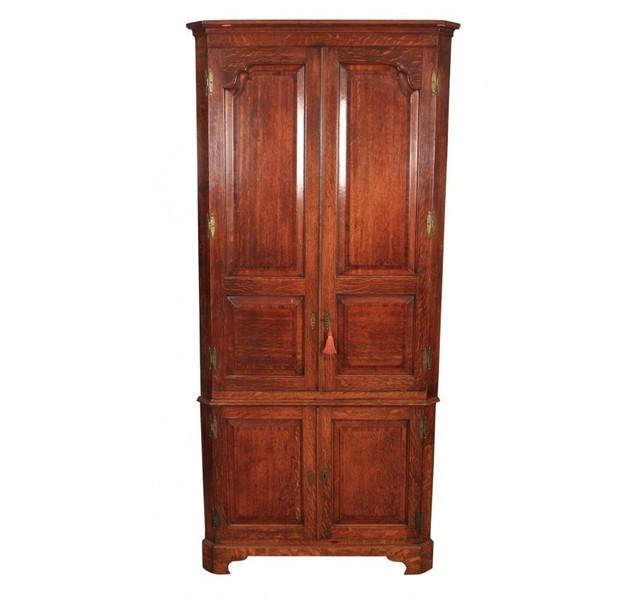Large Georgian Oak Corner Cupboard photo 1