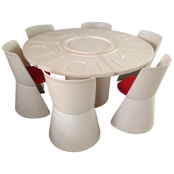 Fabio Lenci Storable Space Age Table Set, Bernini, Italy, 1969