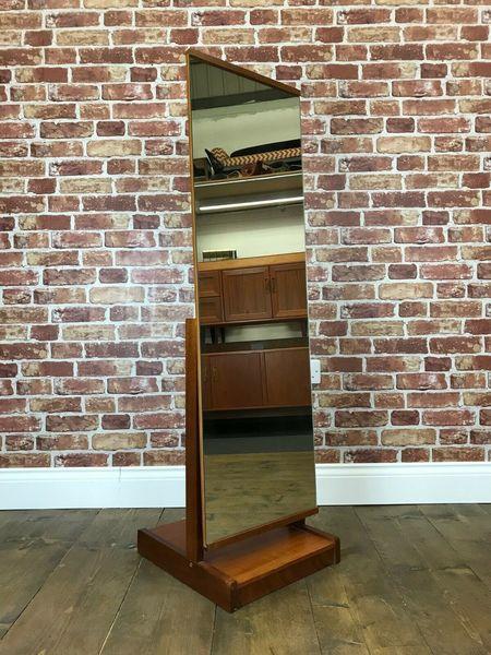 Stunning Retro Tall Floor Mirror   Vintage Teak G Plan Dressing Table Wall Stand