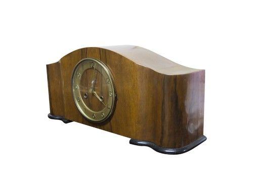 Table Clock Art Deco, 1930's, Czechoslovakia