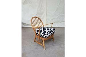 Thumb vtg mid century ercol armchair lounge chair early windsor model scandi retro 0