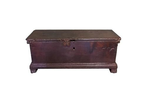 100% True Antique Vintage Mill Chest Original Paint Coffee Table Bed End Chest Be Novel In Design Boxes/chests Edwardian (1901-1910)