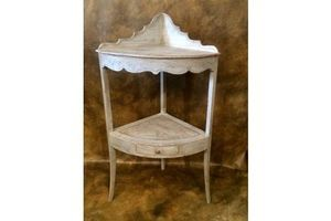 Thumb regency 2 tier corner washstand professionally antique finish and marbled gustavian style 0
