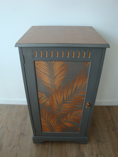 Copper Palm Leaf Cabinet