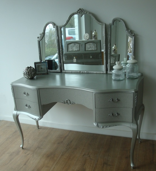 Warm Silver Dressing Table