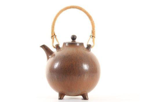 Scandinavian Ceramic Teapot By Gunnar Nylund For Rörstrand