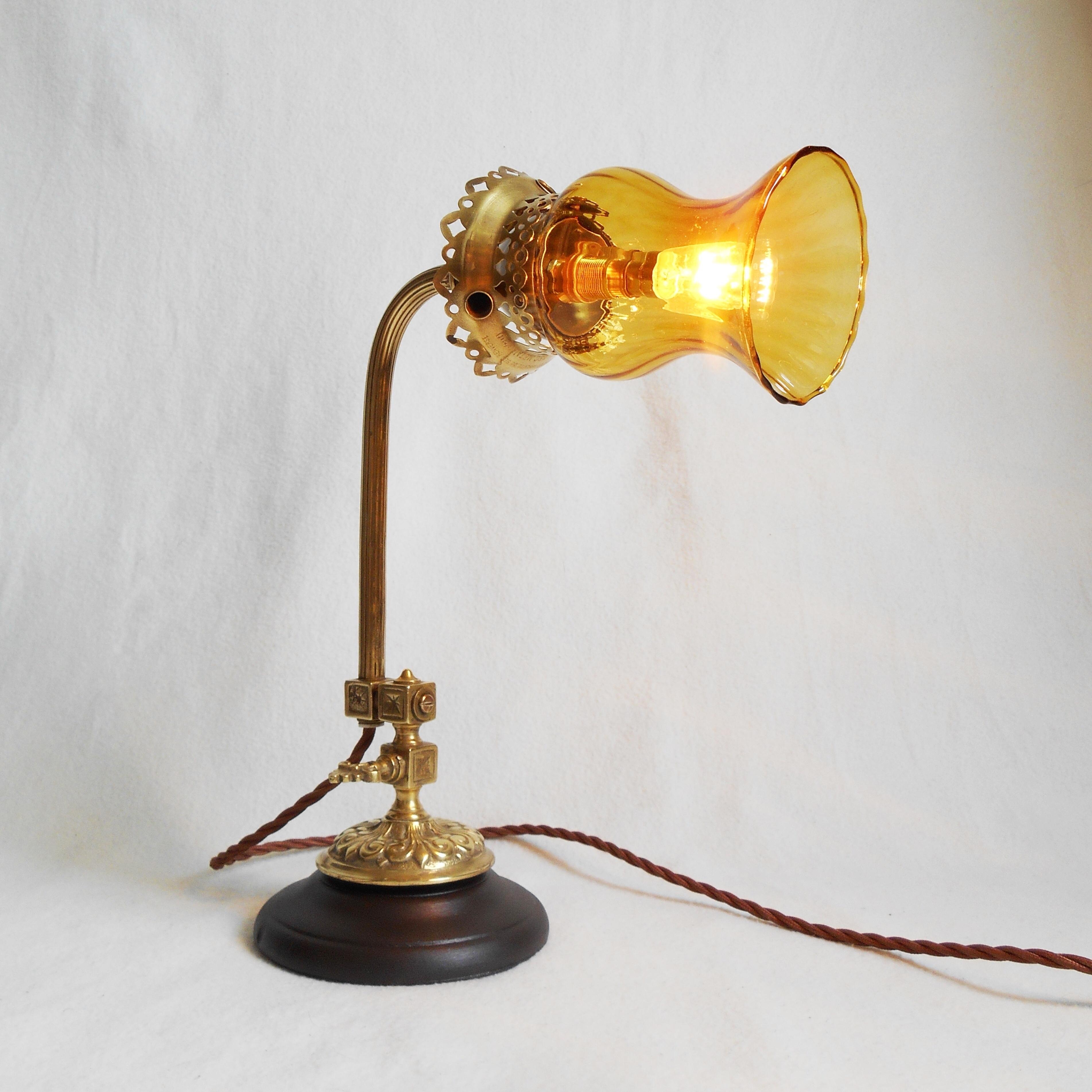 French Antique Gas Lamp Repurposed Into A Unique Table Lamp Fiona Bradshaw Designs Fiona Bradshaw Designs Vinterior