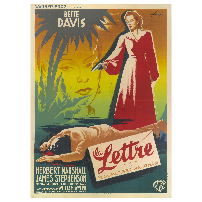 Letter La Lettre Original French Film Poster