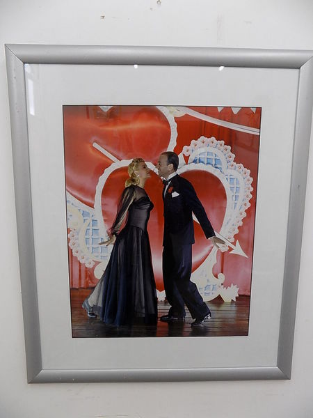 Framed Colour Photographic Print Fred Astaire Ginger Rogers Photo Print Cinema Vinterior