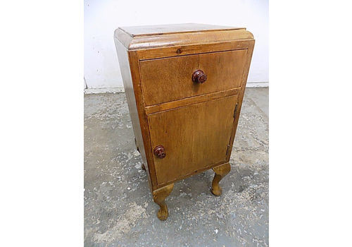 vintage 1930 s pot cupboard cabriole legs drawer cupboard end table