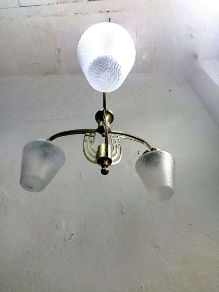 Unique Antique 1920´s-30s Spanish Art Deco Chandelier Ceiling Lamp Vintage Art Deco