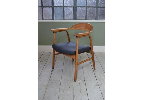 Cheap Sale Vintage Retro Mid Century Danish Teak Elbow Desk Chair Chairs