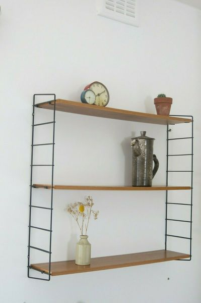 Vintage Mid Century String Shelving Unit 20th Century Shelves Other