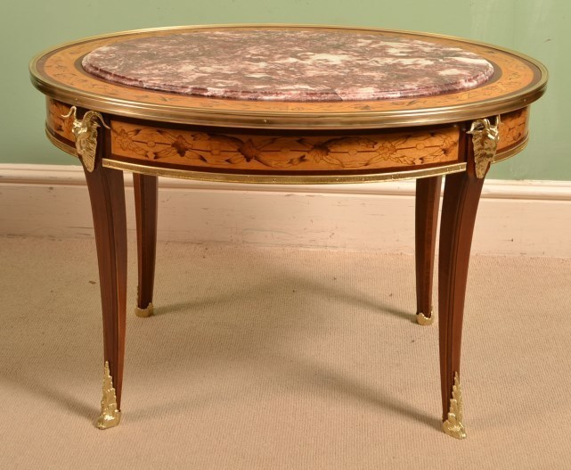 Beautiful French Satinwood Marquetry Coffee Table