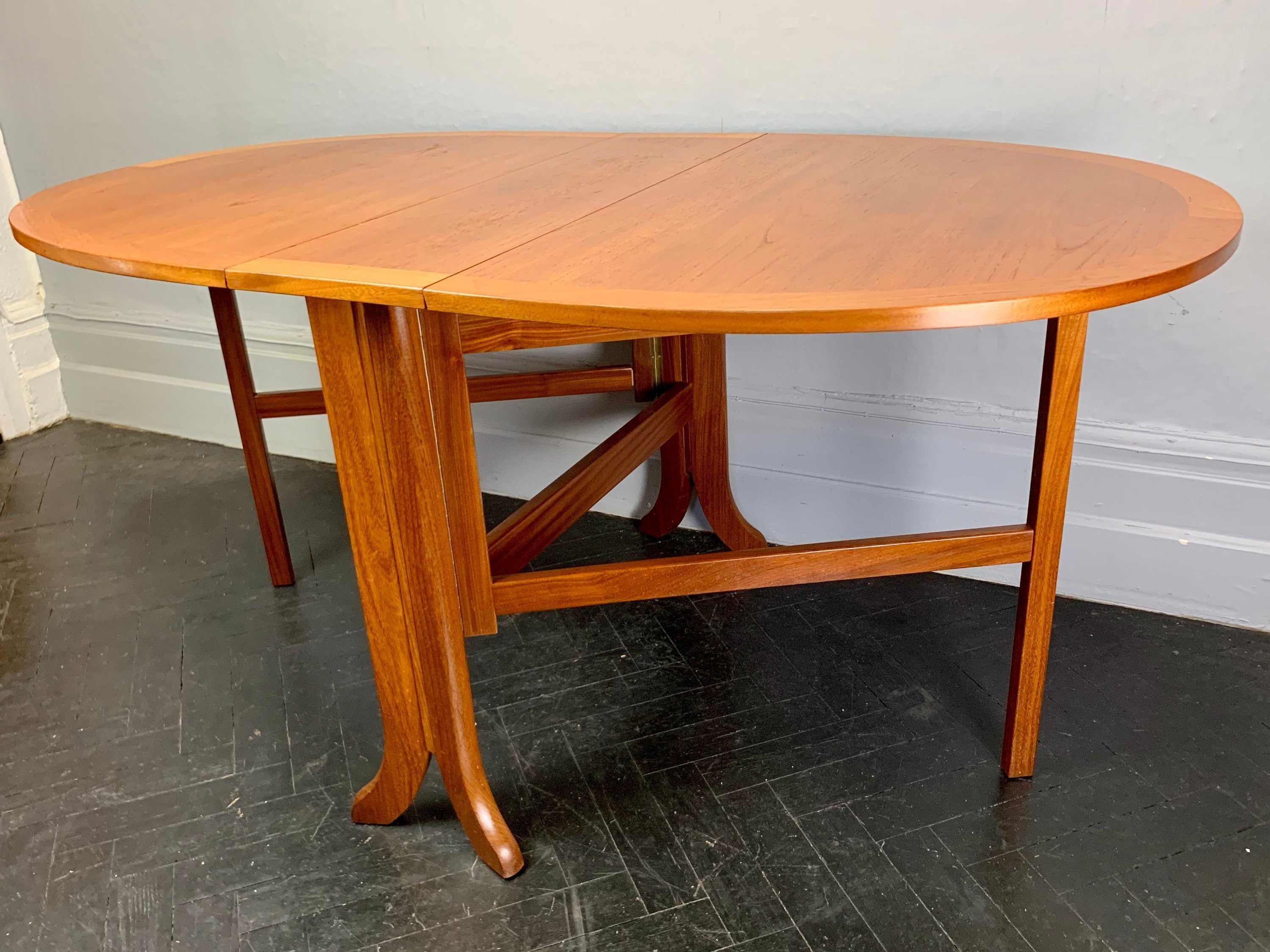 Vintage Folding Dining Table By Parker