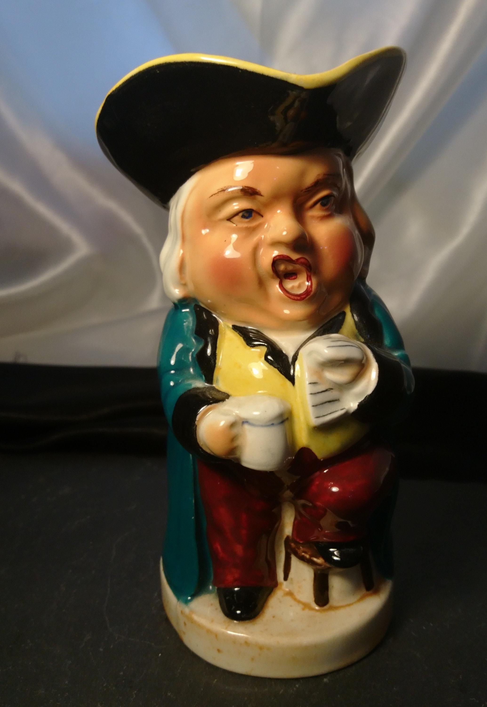 Vintage Toby Jug, Character Jug, The Singer, Burlington Ware