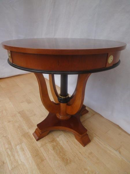 Antique Style Mahogany Parquetry Occasional Side Table photo 1