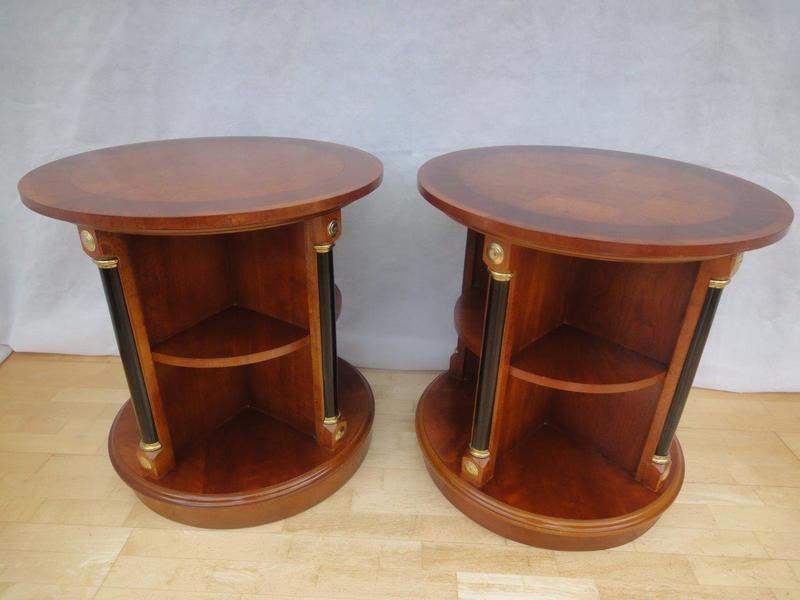 Antique Style Mahogany Revolving Book Cabinets