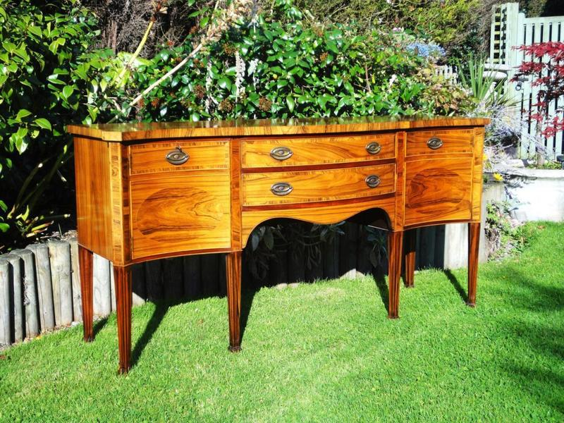 Antique Style Georgian Rosewood Serpentine Fronted Sideboard photo 1