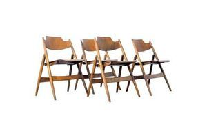 Thumb four 1950s egon eiermann ply wood folding chairs 0
