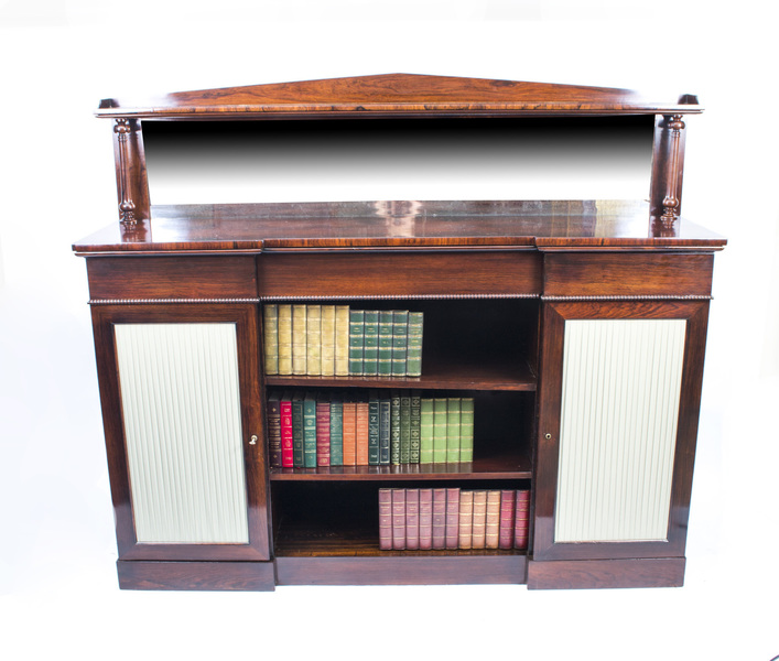 Antique William Iv Rosewood Chiffonier Open Bookcase 1835