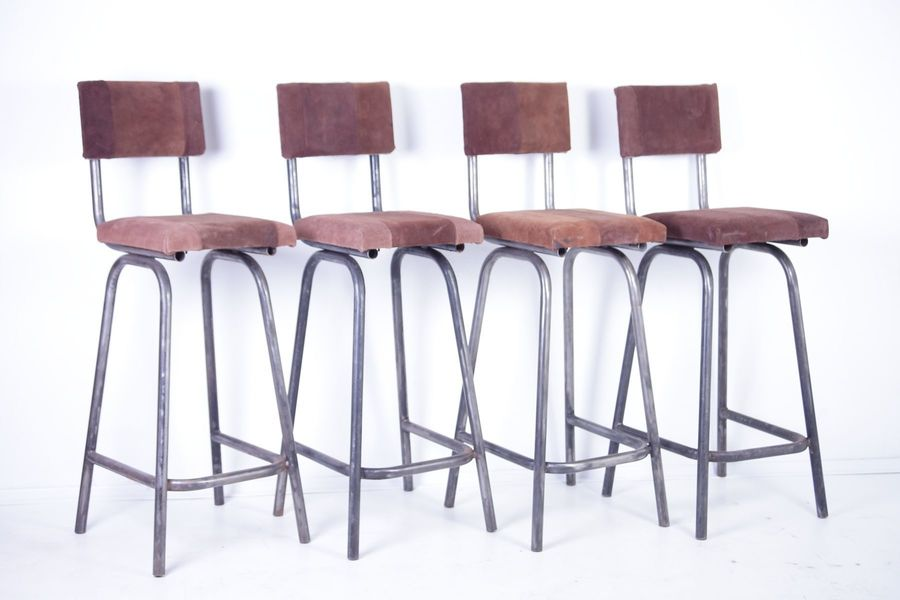 Miraculous Vintage Bistro Bar Stools Set Of 4 Caraccident5 Cool Chair Designs And Ideas Caraccident5Info