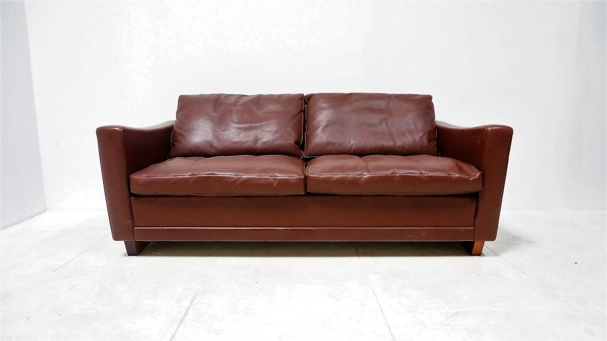 Scandinavian Leather Sofa