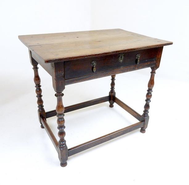 Antique Georgian Oak Side Table photo 1