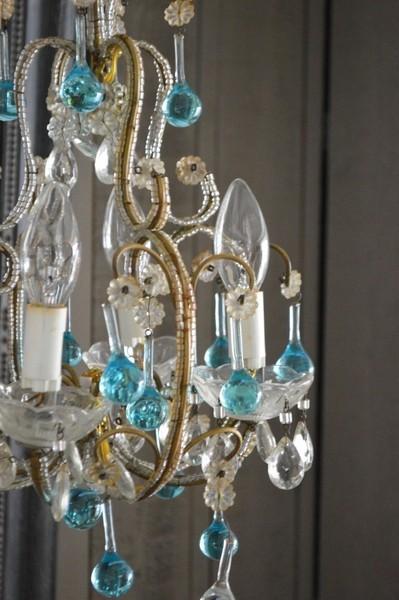 French Four Bulb Chandelier, 1950's